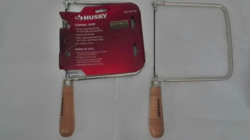 "Husky 1228 6.5"" Deep-Cut 32 Teeth / Inch Steel Coping Saw w/ Rust Resistant Coat"