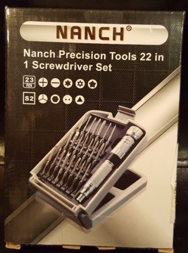 NANCH Precision Screwdriver Set with 22 Magnetic Bits for all Electronics New!