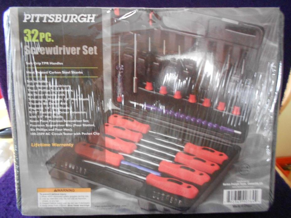 Pittsburgh 90764 Assorted 32 Pc. Screwdriver Set With Case