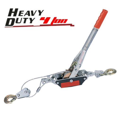 Professional Winch Puller Hoist Ratchet Hand Cable Crane Hook 4 Ton 8000lb MY