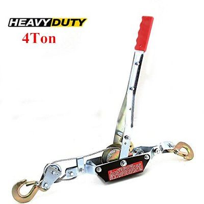 4 Ton 8,000lb Come Along Hoist Ratcheting Cable Winch Puller Crane Comealong MS