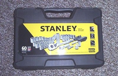 1 TOOL BOX STANLEY MULTIPLE SPACES FOR 60 TOOLS  PIECE SET KIT NO TOOLS
