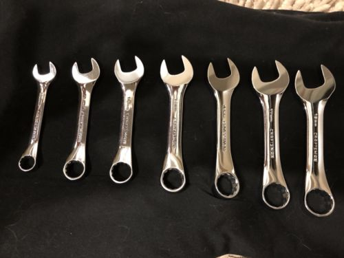 Craftsman 7 Piece Short Combination Wrench Set - Metric - Fully Polished