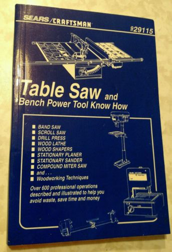 1996 Sears Craftsman Table Saw and Bench Power Tool Know How 9- 29115 Nice