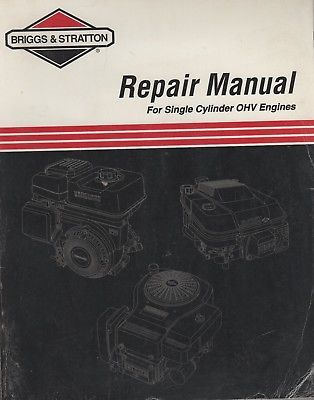 1999  BRIGGS & STRATTON SINGLE CYLINDER OHV REPAIR MANUAL 272147 (480)