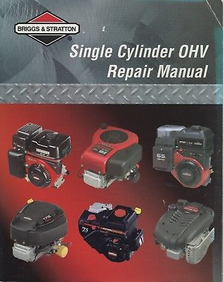 2002  BRIGGS & STRATTON SINGLE CYLINDER OHV REPAIR MANUAL 272147 (481)