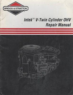 1999 BRIGGS & STRATTON INTEK V-TWIN CYLINDER OHV REPAIR MANUAL 273521 (477)
