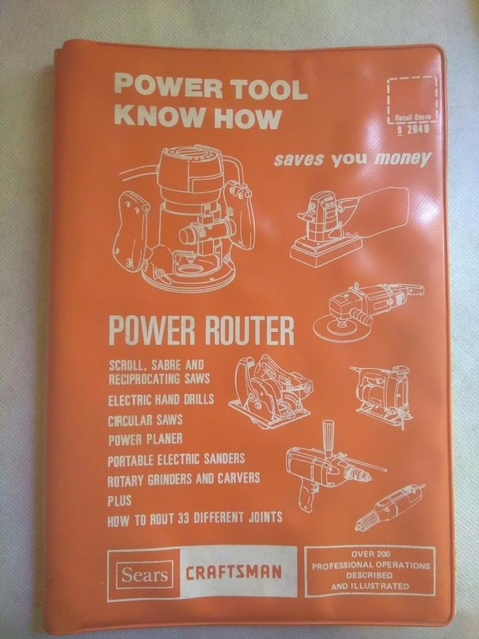 Sears Craftsman Power Tool Know How-Power Router 1977 Soft bound