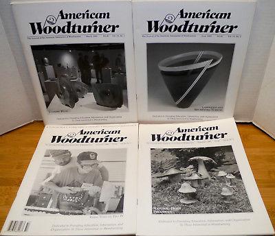 4 1995 American Woodturner Magazines – Volume 10 Numbers 1-4 Wood Turner