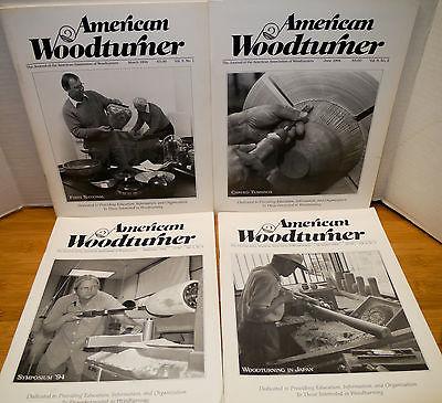4 1994 American Woodturner Magazines – Volume 9 Numbers 1-4 Wood Turner