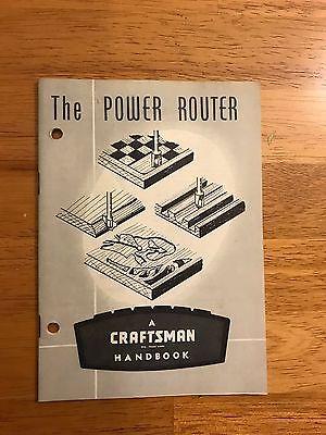 Original CRAFTSMAN 1963 HANDBOOK INSTRUCTIONS POWER ROUTER