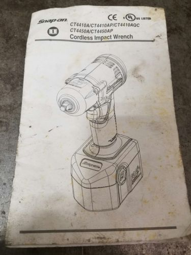 Snap-On CT4410A Impact Manual Diagram Instructions