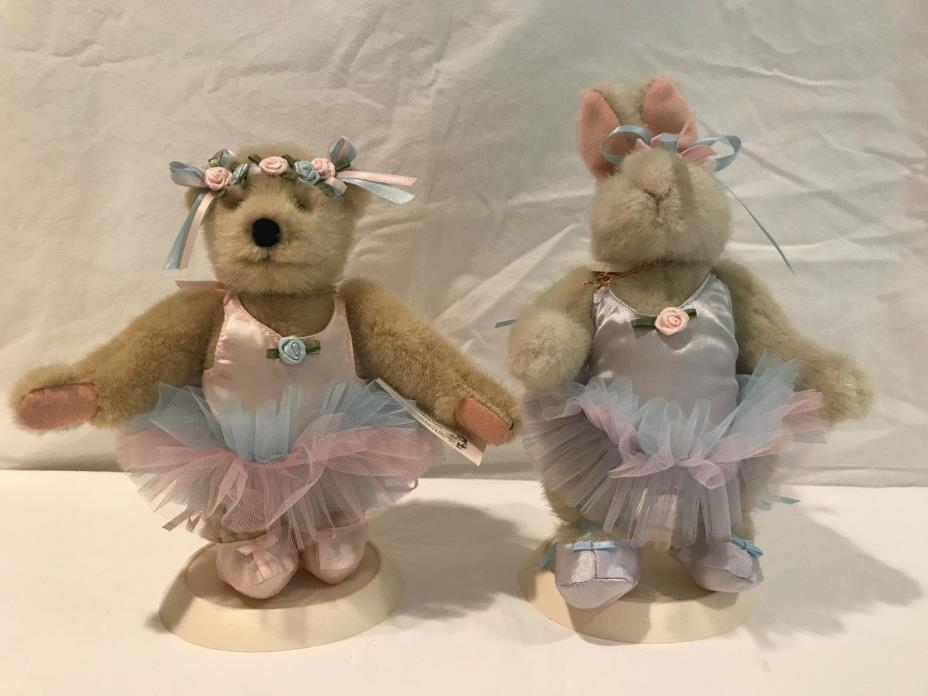 MUFFY VanderBear and HOPPY Paw de Deux Ballerina Collection 1990