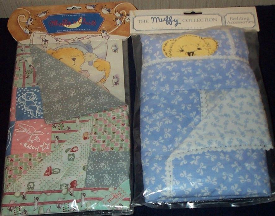 Muffy Vanderbear The Pajama Game Quilt & The Collection Bedding Accessories NRFP