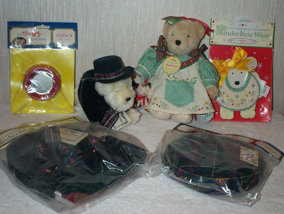 Lot Muffy & Lulu Vanderbear Christmas Holiday Bear, Dog, Outfits & Accessories