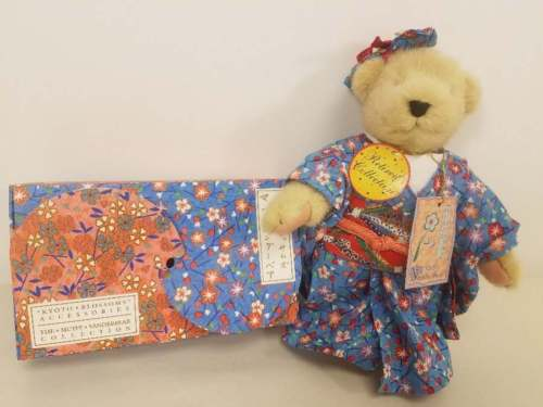 MUFFY - KYOTO BLOSSOMS BEAR and ACCESSORIES (SANDLES, FAN, BAG)