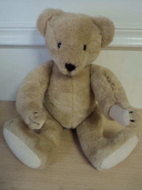 Vintage North American Bear Company Jointed Teddy Bear Plush Tan 16