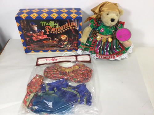 MUFFY - THE FORTUNE TELLERS lot (GYPSY BEAR, HOPPY OUTFIT, ACCESSORIES)