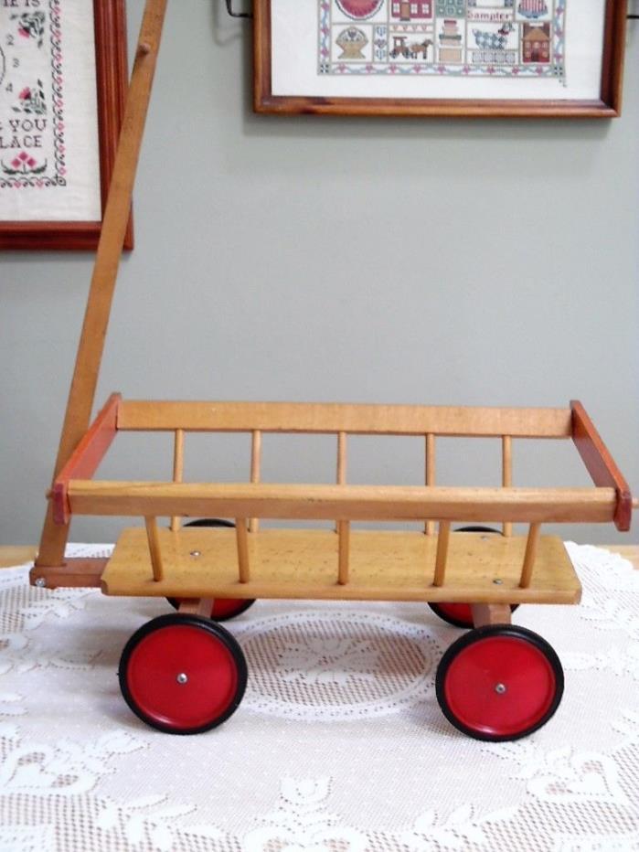 Toy Farm Cart Hay Pumpkin Wooden Cart/Wagon EUC
