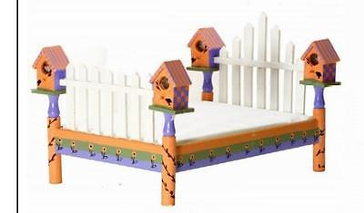 Doll Bed Furniture Wood Birdhouse Bird House 15 3/4