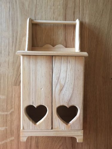Vintage Barbie Doll Size Wood Cabinet Hand Crafted Furniture