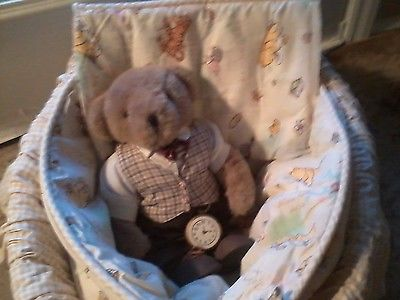 COZY DOLL DISPLAY BASKET POOH BEAR BASSINET REBORN ADORA TURNER RUBERT DRAKE