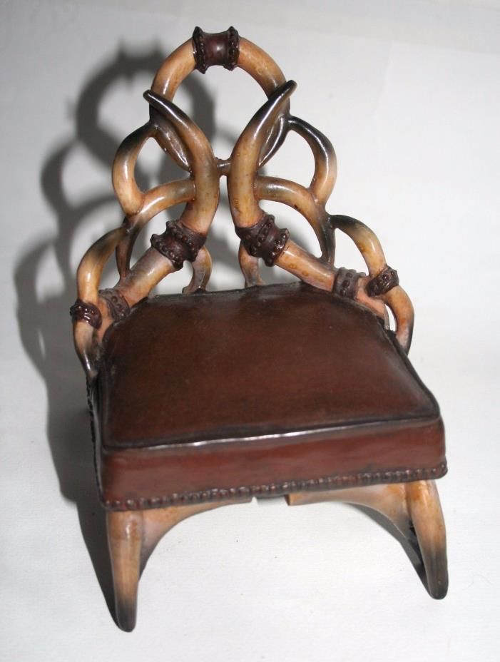 Doll Chair Made To Look Like It's Made of Horns, 6 1/2
