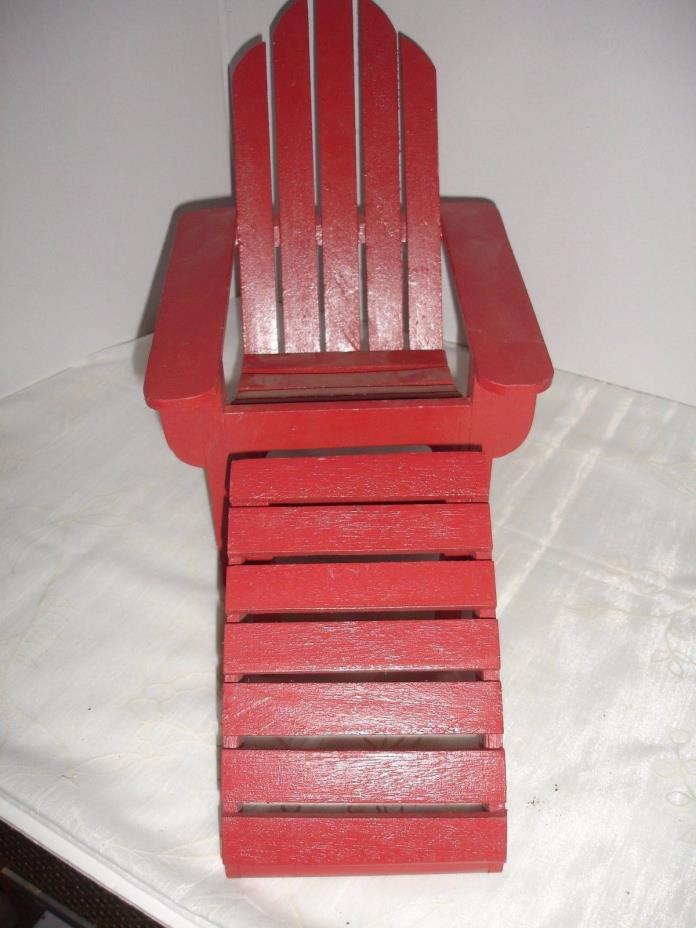 Lounge Chair Red Wooden Very Sturdy