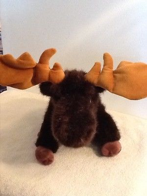 THE BEARINGTON COLLECTION MOOSE WITH POSEABLE ANTLERS 12
