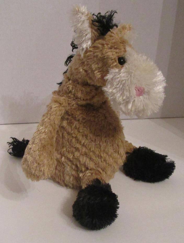 Small Stuffed Horse Beanbag Tan Light Brown Animal  Toy 7