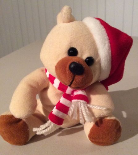 Christmas Gift Holiday Stuffed Plush Toy Ho Ho Beans Sears Roebuck Santa Bear