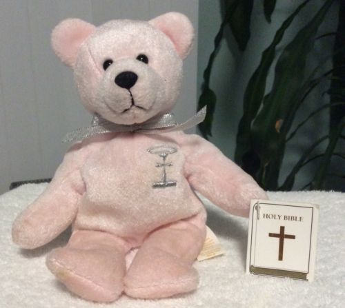 "8.5 "" Light Pink Stuffed Plush Toy Holy Bear, Purity 1999 Make Offer"
