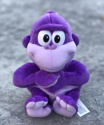 RARE Bonzi Buddy Plush BRAND NEW/MINT 2001 Gold Membership Reward Purple Gorilla