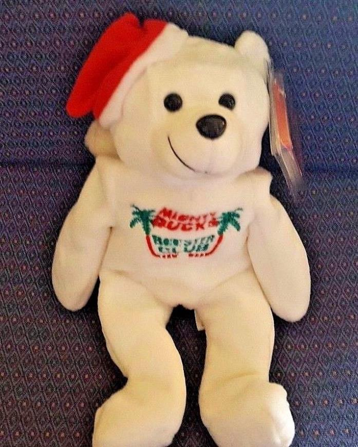 MIGHTY DUCKS Booster Club 1999 Happy Holidays Plush Mini Bean Bag NWT