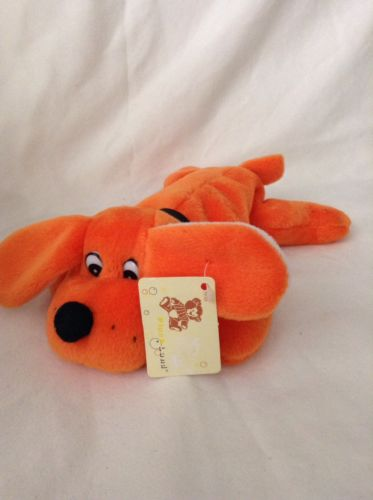 plush Land bean bag orange Puppy Dog doll stuffed animal toy