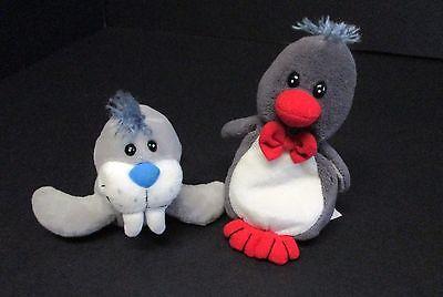 Set of 2 Plush Bean Bag Animals - Polardreams Penguin and Seal 7