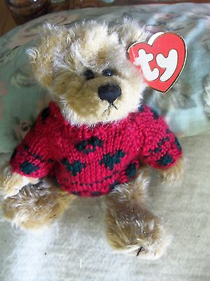 Miniature TY Bear with Sweater
