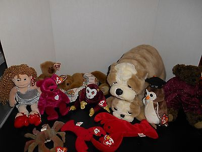 Vintage TY Lot  ATTIC TREASURES  PRECIOUS Cody Beanie Babies 1990 1995 Dog Bears