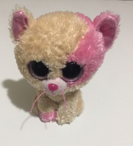 TY Beanie Boos Anabelle Exclusive Annabelle Pink Tan Kitten Kitty