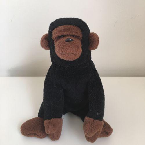 Ty Beanie Baby CONGO 1996 Gorilla ERRORS Plush Toy RETIRED