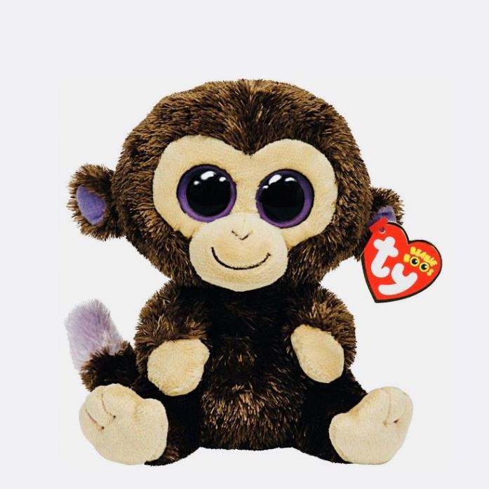 TY BEANIE BABIES COCONUT BOO BEANIE BOO'S COLLECTION COLLECTIBLE MONKEY NEW+TAG