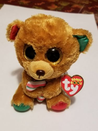 New! 2017 Holiday Ty Beanie Boos BELLA the Bear 6