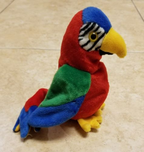 Jabber The Parrot Ty Beanie Baby Original Retired 1997 1998 Tag Errors NM-MT