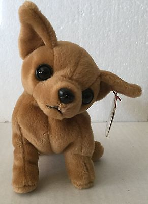 "Rare TY Beanie Baby ""Tiny"" the Chihuahua - 1998~Retired~NWT Date Error"