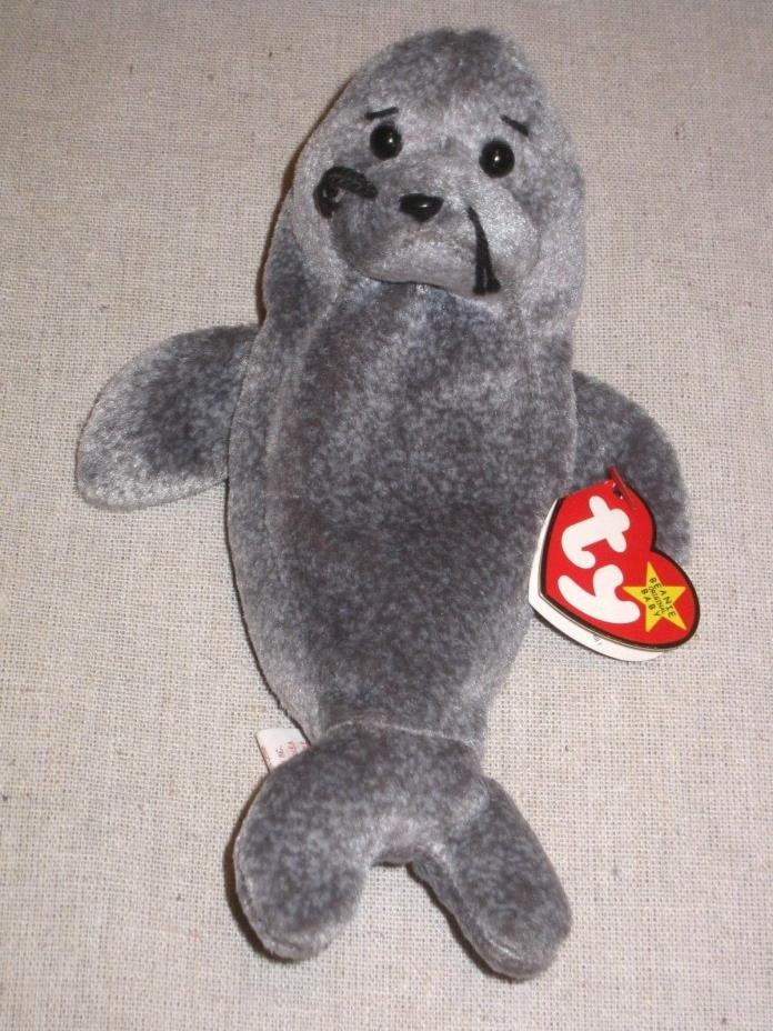 Ty Beanie Baby Slippery The Seal Gasport 1998 1999 Retired Mint Errors Rare