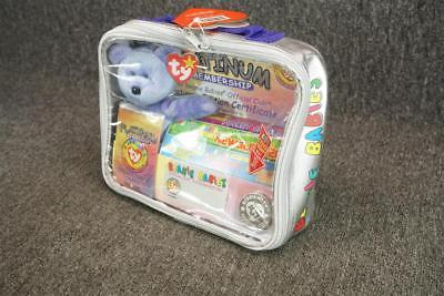 Ty Beanie Babies Official Club Platinum Edition Carrying Bag With Items
