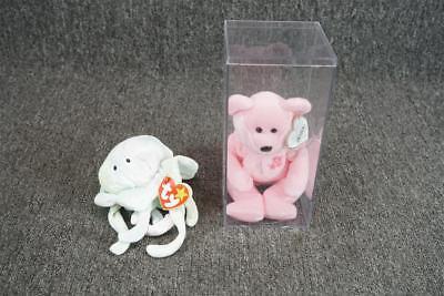 Set Of Two Beanie Babies Goochy And Sakura