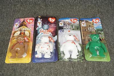 TY Beanie Babies Set Of 4 Glory, Erin, Maple And Britannia