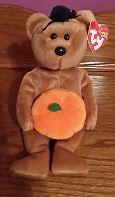 Ty Beanie Baby ~ HOCUS the Halloween Bear ~ RETIRED Collectible Vintage
