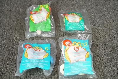 Set Of 4 Mcdonalds Ty Beanie Babies In Packages